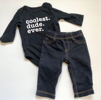 Carters Baby Boys Coolest Dude Ever Outfit - Sz 3 mo