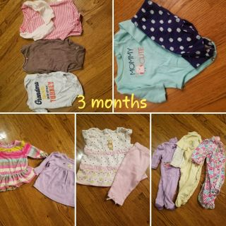 Lot of 3 month baby girl clothes