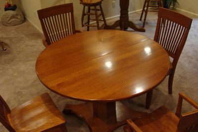 Dinette Set (Table & 4 Chairs) - Solid Oak