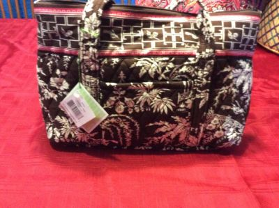Vera Bradley Betsy purse & sleek wallet/ clutch in Imperial Toile