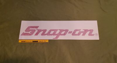 Vintage Snap-on Tools Decal Application Tape, Size Extra Large. Available in Red, Black, White & Neon Yellow