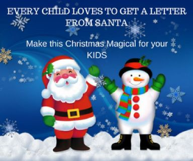 Every child loves to get a letter from Santa