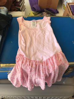 Pink Danskin one piece skirt attached bows on it Super Cute Like Brand New