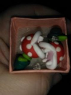 Mario piranha plant earrings