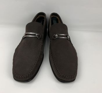 Mens Brown Suede Dress Casual Bit Loafer By Broletto Shoes Size 11 Medium
