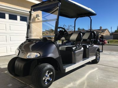 6 six seat seater limo golf cart passenger golf carts