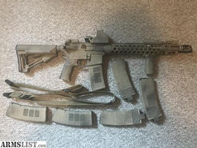 For Sale: AR-15 (6 mags, 169 rounds, MS3 sling, Soft Case, M600 Weapon light, Sightmark) AS-IS