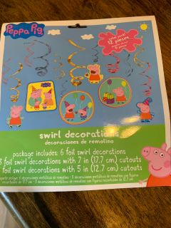 Peppa pig party decor