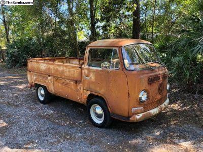 69 VW Single Cab Pick-Up Recent Original Barn Find