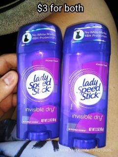 2 lady speedstick deodorants