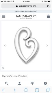 James Avery- Mother s Love Pendent