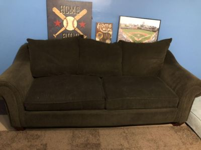 Couch and chair with footrest