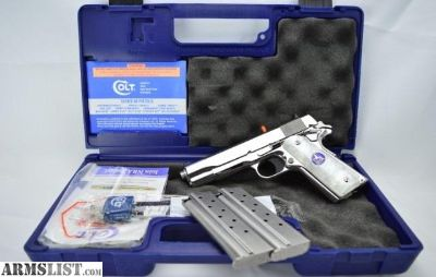 For Sale: Colt .38 Super 1911 BRIGHT STAINLESS Jeweled Parts Lew Horton Exclusive O2091BSS3 O2091BSS2 O2091