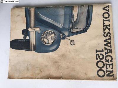 1964 Original VW Bug owners manual