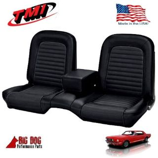 Purchase 1966 Ford Mustang Black Front and Rear Bench Seat Upholstery Made in USA by TMI motorcycle in Los Angeles, California, United States, for US $339.99