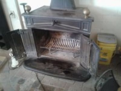 two wood burning stoves for sale
