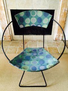 Mid Century Modern Iron Hoop Circle Chair