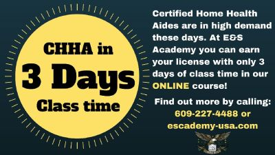 Online HHA Training, only 3 days of class