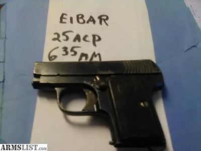 For Sale: WTB Eibar Spain 25 cal auto