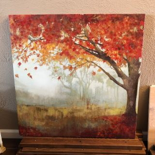 LARGE canvas tree wall hanging