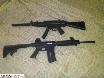 For Sale: Two --- 22 assault rifles