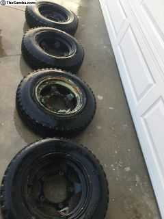 A Complete Set Of Jackman Style Rims and Tires