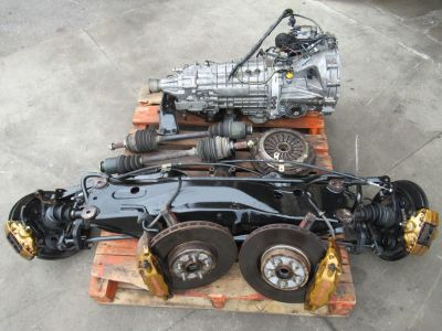JDM WRX STI 6 SPEED TRANSMISSION R180 DIFFERENTIAL AXLES BRE