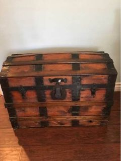 Dome Top Wooden Trunk