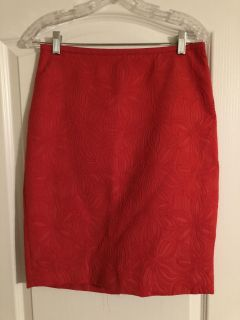 Size 6 Limited red pencil skirt- $8
