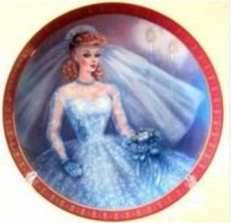 Barbie 'Bride to Be' Susan Morton High Fashion Collection Plate