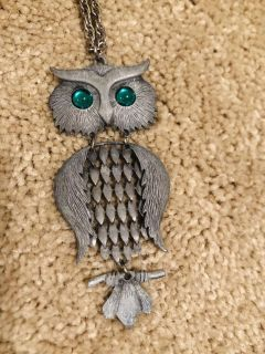Pewter Owl necklace