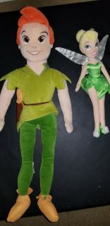 Peter Pan and tinkerbell soft dolls