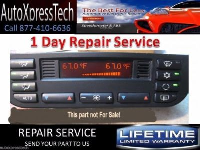 Purchase BMW 1999 E36 CLIMATE CONTROL UNIT AC HEATER REPAIR SERVICE Send your unit to us motorcycle in Brockton, Massachusetts, United States, for US $44.99