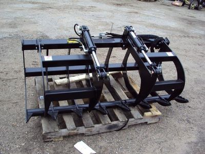 New 66 dual cylinder brush  root grapple for a skidsteer or tractor