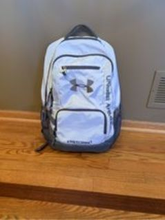 White/Gray Under Armour Storm Backpack