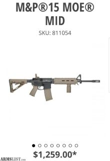 For Sale/Trade: S&W MP AR 15 MOE Magpul Edition