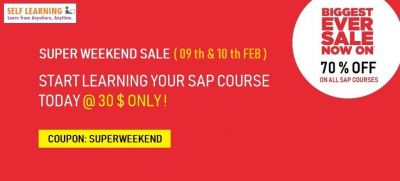 70 %OFF Sale - LEARN 3 SAP COURSES @ 99 $ Only !