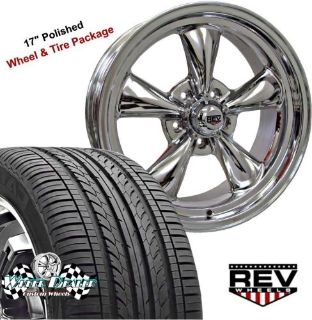 "Buy 17x7""-17x8"" POLISHED REV CLASSIC 100 WHEELS & TIRES FOR CHEVY NOVA 1970 1971 motorcycle in Spring, Texas, United States, for US $1,199.00"
