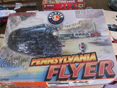 Lionel 6-31936 Pennsylvania Flyer Ready to Run O-Gauge Train Set for Christmas tree