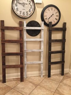 Blanket ladders (solid stained)