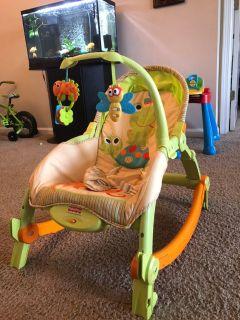 New Born - Toddler portable Rocker - Like New