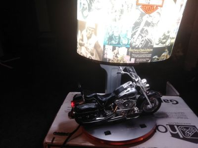 Motorcycle Harley Davidson lamp with night light