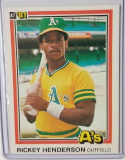 The A's Henderson