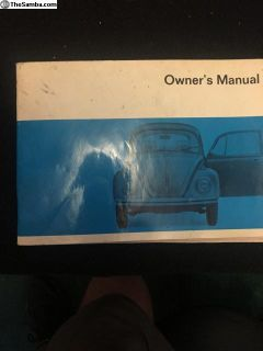 Orginial glove box manual for 70 bug