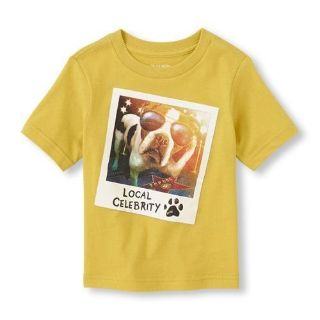 New The Children's Place Baby Toddler Boys Dog Graphic Short Sleeve Tee, size 18-24 months