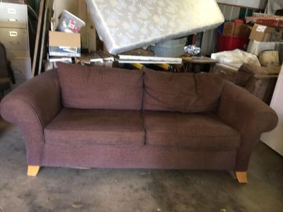Brown Cloth Couch