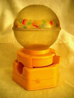 Hasbro Plastic Gumball Machine Rare Yellow Base & Red Lock (C) 1968