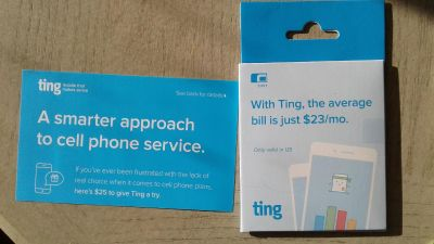 Ting cell phone SIM card - Free with purchase
