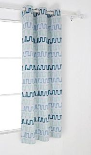 Thermal Insulated Blackout Curtains with Grommets 42 W x 95 L Green and Blue, 2 Panels
