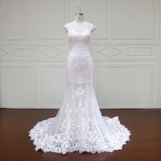 Edwina's Mermaid Lace Wedding Gown